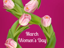 Womens day on March, 8th. EPS 10 Royalty Free Stock Photos