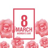 Womens day pink card. Icon vector illustration graphic design Stock Photos