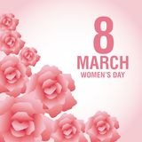 Womens day pink card. Icon vector illustration graphic design Royalty Free Stock Photos