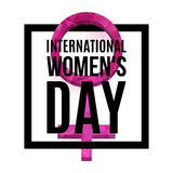Womens Day poster. International Womens Day poster. Venus symbol with low poly texture, 3d. Gender symbol. 8 March poster. Vector, , eps 10 Vector Illustration