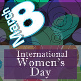 Womens Day Random Colorful Circles. 8 March International Womens Day image with dark colourful background vector illustration