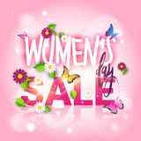 Womens Day Sale Poster Discount Flyer 8 March Promotion Template Banner Design. Vector Illustration Royalty Free Stock Images