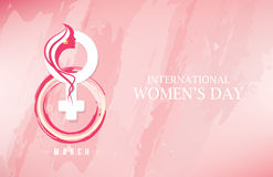 Womens Day Template. 8th March Womens Day Template in Abstract Background Stock Photos