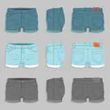 Womens Denim Shorts Stock Image