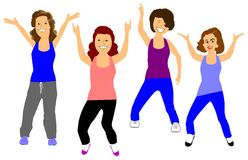 Womens exercise class Stock Photography