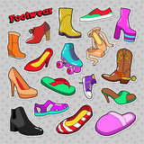 Womens Fashion Shoes and Boots Set Royalty Free Stock Photography
