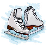 Womens figure skates. For sports ice arena Stock Photos