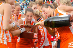 Womens Finals .Hockey European Cup Germany 2011 Stock Image