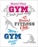 Womens Fitness GYM - vector stock Stock Image