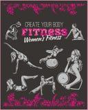 Womens Fitness GYM - vector stock Stock Photos