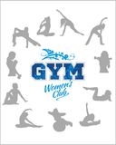 Womens Fitness GYM - vector stock Royalty Free Stock Photos