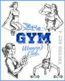 Womens Fitness GYM - vector stock Stock Photo