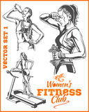 Womens Fitness GYM - vector stock Stock Photography