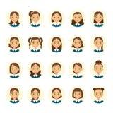 Womens hairstyles. various hair styles. Vector Stock Photos