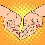 Womens hand heart shape love romance Valentines Stock Photo