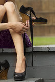 Womens  hand   shoes Stock Image