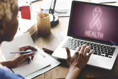 Womens Health Awareness Ribbon Concept Stock Image