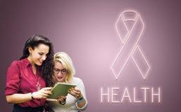 Womens Health Awareness Ribbon Concept. Womens Health Awareness Ribbon Wellness royalty free stock image