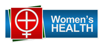 Womens Health Red Green Blue Banner Stock Image