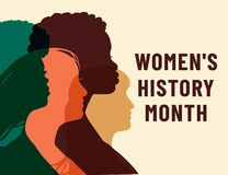 Free Womens History Month. Women`s Day. Poster With Different Women. 8 March Royalty Free Stock Photo - 211243615