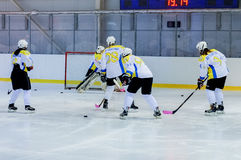 Womens hockey in Ukraine Royalty Free Stock Images