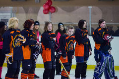 Womens hockey in Ukraine Stock Images