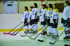 Womens hockey in Ukraine Royalty Free Stock Photos