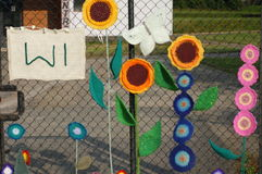 01 Womens Institute Yarn Bombing Stock Images