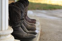 Womens leather cowboy boots royalty free stock photo