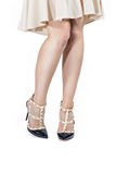 Womens legs in shoes Stock Image