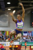 Womens Long Jumper Shara Proctor of Great Britain. Stock Photography