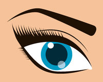 Womens make up and cosmetics. Graphic design, vector illustration eps10 Royalty Free Stock Photos