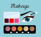 Womens make up and cosmetics. Graphic design, vector illustration eps10 Royalty Free Stock Photography