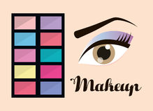 Womens make up and cosmetics. Graphic design, vector illustration eps10 Royalty Free Stock Image