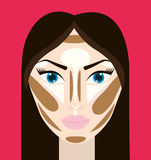 Womens make up and cosmetics. Graphic design, vector illustration eps10 Royalty Free Stock Images