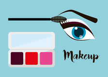 Womens make up and cosmetics. Graphic design, vector illustration eps10 Stock Images