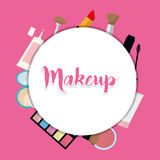 Womens make up and cosmetics. Graphic design, vector illustration eps10 Stock Image