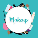 Womens make up and cosmetics. Graphic design, vector illustration eps10 Stock Photography