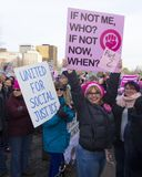 Womens march hartford connecticut Royalty Free Stock Image