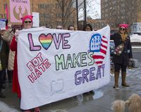 Womens march hartford connecticut Royalty Free Stock Photo