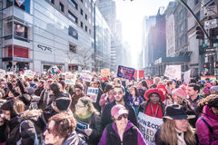 Womens March 2017 NYC royalty free stock images