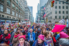 Womens March 2017 NYC royalty free stock photography