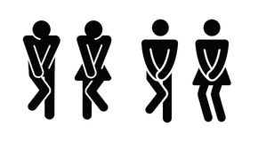 Womens and mens toilet icon sign. Vector Stock Photography