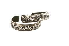 Womens metal bracelets. Stock Photos