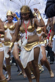 Womens in pearl dress at Notting Hill carnival Stock Photo