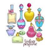 Womens perfume bottles Royalty Free Stock Photography