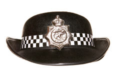 Womens police hat Stock Photo
