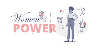 Womens power web banner Stock Photography