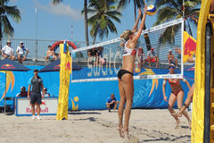 Womens Professional Beach Volleyball Stock Images
