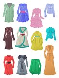 Womens raincoats and windbreakers Royalty Free Stock Images